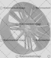 Front side view of Alloy wheel isolated over white (custom rendered)